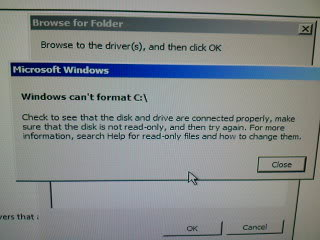Hard drive not recognized